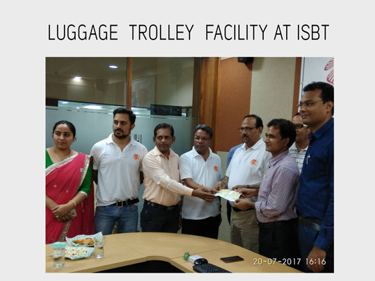Luggage Trolley Facility at ISBT